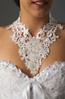 Handmade Design Western Victorian Style Wedding Lace Sequined Hand Sewn Choker