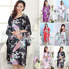 Hot Women's Fashion Sexy Floral-print 3/4 Sleeve Robe Sleepwear Pyjamas 6 Color