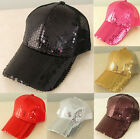 Shinny Bling Sequins Vintage Mesh Baseball Cap Hat Many Colors