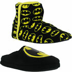 Mens Official Batman DC Mule Slip On Booties Ankle Boots Slippers Sizes 7 to 12