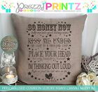 PERSONALISED CUSHION CANVAS CHRISTMAS ANNIVERSARY WEDDING GIFT THINKING OUT LOUD