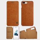 For iPhone 8 Plus 7 Nillkin Luxury Leather Card Flip Case Pouch Shell Bag Cover