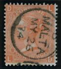 Sg 94 4d Vermilion Plate 13.  A superb used example with Malta steel cds