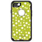 CUSTOM OtterBox Defender for iPhone 6 6S 7 PLUS Green White Bubbles Polka Dots