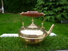 teapot with wooden handle