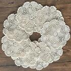 8PCS/Lot 7'' Round Cotton Hand Crochet Doilies Placemats Coasters T06