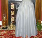 Ladies plain satin petticoat Victorian / Edwardian costume fancy dress