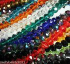 Faceted Rondelle Crystal Glass Beads CHOOSE COLOUR & SIZE 8mm, 6mm & 4mm