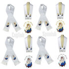 Color Virgin Mary & Pope Embroidery Christening Stole Scarf Sash New Born 7 yrs