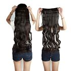 "Cheap Price 29"" Curly 3/4 Full Head 1 Piece clip in hair Extension Dark Brown"