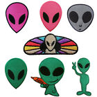 ALIEN ET UFO SPACE KIDS BABY IRON ON PATCH EMBROIDERED FABRIC SEW ON APPLIQUE
