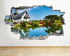 H241 Village Asia Lake Peaceful Smashed Wall Decal 3D Art Stickers Vinyl Room
