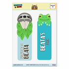 Set of 2 Glossy Laminated Sloth and Frog Bookmarks - Names Female Ba-Be