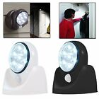 2 x Motion Activated Cordless Sensor LED Light Outdoor Garden Wall Patio Shed