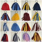School colours korker elastic ponytail bow clip sport dance party netball curly
