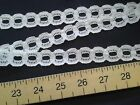 12 METRES OF CREAM SLOTTED EYELET LACE 2cm KNITTING TRIM sewing crafts knit in