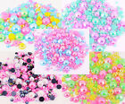 15g or 25g AB Iridescent Flat Back Pearl Set Mix Decoden Craft Embellishment