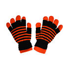 Warm, Comfortable 2 in 1 Striped Knit Fingerless & Full Gloves  Great Colors