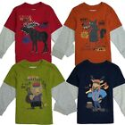 T Shirt Boys Tee Kids Children Long Sleeve Graphic Mock Cotton Casual 4 5 6 7