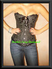 Black Boned Corset Shaper Lace up Back Steel Busk Ships from NEW YORK Size S-2XL