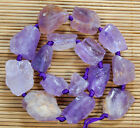 14x17-24x31mm Natural Purple Amethyst Gemstone Nugget Spacer Loose Beads 15.5""