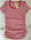 NWT Michael Kors T-shirt basics macintosh red white striped women shirt $59.5