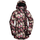 VOLCOM Womens 2017 Snowboard Snow Snake Floral Print KELSO INSULATED JACKET