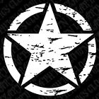 "1-Single 14"" Distressed Freedom Star Decal Oscar Mike Jeep Mudding Military 4x4"