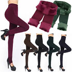 Women's Solid Winter Thick Warm Fleece Lined Thermal Stretchy Leggings PantsLAUK