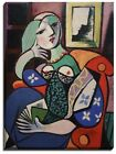 Canvas Print,  Pablo Picasso's Woman With Book
