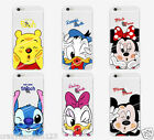 Mickey Minnie Donald Daisy Stitch Pooh Transparent TPU Case Cover for iPhone