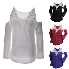 New Fashion Women Long Sleeve Shirt Casual Lace Blouse Loose Tops T-Shirt LAUS