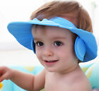 Baby Kids Shampoo Bathing Shower Cap Visor Wash Hair Shield Hat with Ear Cover