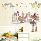 Hot Fashion City Girl DIY Stickers Wall Decals Home Room Vinyl Art Decor 3o