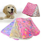 Warm Pet MatLarge Paw Print Cat Dog Puppy Fleece Soft Blanket Bed Cushion 9o