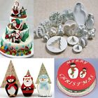 Christmas Fondant Pastry Cookie Mould Cake Decorating Plunger Cutters Gum Tools