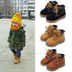 Autumn Winter Fashion New Boys Girls Martin Boot Baby Kids Sports Shoes Sneakers