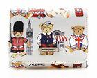 Women's Teddy Bears Purses Nice London Motif Pattern Wallet Great Brand 8022