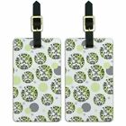 Luggage Suitcase Carry-On ID Tags Set of 2 Pattern Prints A-K
