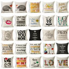 Love Words Warm Pillow Case Pillow Cover Sofa Cushion Cover Home Dec