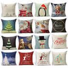 Merry Christmas Happy New Year Aestheticism Pillow case Sofa Cushion Cover