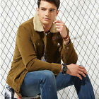 AFS JEEP Men Corduroy Jackets Casual Overcoats Thicken Lapel Fuzzy Fur Outerwear