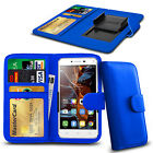 For Huawei Y635 - Clamp Style PU Leather Wallet Case Cover