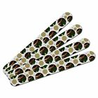 Double-Sided Nail File Emery Board Set 4 Pack Camouflage Camo Army Pattern