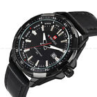 Analog Fashion Naviforce Men's gent Date Leather Army Sport Wrist Watch 9056 New image