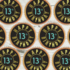 24 x 13TH BIRTHDAY BLACK GOLD BLING Edible Cupcake Wafer Icing Cake Toppers