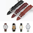 Mens Genuine Leather Watch Stainless Steel Straps Band Twister Buckle Spring Bar