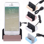 Charger Station Cradle Sync Dock Adapter for iPhone 5 5S SE 6 6S Plus 7 Plus