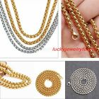 """1/2/3/4/5/7MM Hotsale Stainless Steel Mens Womens Rolo Box Necklace 16-40"""""""