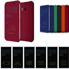 New GENUINE OFFICIAL Dot View Flip Leather Smart Case Cover For HTC Smart Phone